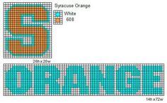 Syracuse Orange by cdbvulpix on DeviantArt Cross Stitch Charts, Cross Stitch Designs, Cross Stitch Patterns, Syracuse Logo, Lighter Case, College Football Teams, Orange Logo, Bead Loom Patterns, Crochet Patterns