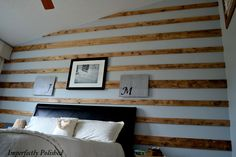 Rustic wood wall by Imperfectly Polished.  I LOVE this wall!!!