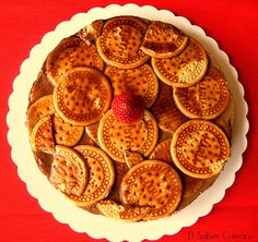 Tarta chocoflán con galletas borrachas. Receta muy fácil y sin horno