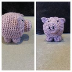 Crochet Pig Toy by PerfectPearWear on Etsy, $12.00