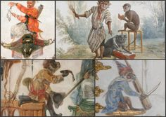 Château de Chantilly interieur monkey - Szukaj w Google Monkey Style, Monkey 2, Chinoiserie, Renaissance, Rococo Style, Monkey Business, Panel Art, Repeating Patterns, Wood Paneling