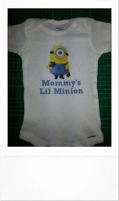 Cute  Funny Onesie Mommy's Lil Minion  Onesie by THESPOTBTOWN, $12.99 by tracey