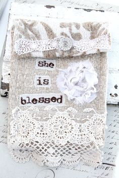 she is blessed jewelry bag - $30.00 : Beth Quinn Designs , Romantic Inspirational Jewelry