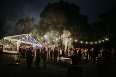 A clear marquee with twinkling bud lighting opening up onto the grassed cocktail setting spotted with festoon lights at Michael & Tanya's Bend of the River Wedding. Marquee Wedding Receptions, Cocktail Wedding Reception, Wedding Set Up, Wedding Mood Board, Wedding Events, Wedding Ideas, Tanya Love, Clear Marquee, Festoon Lights