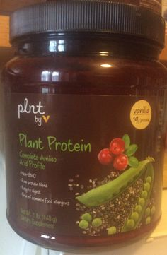 Healthy smoothie to start the day. Added plant protein - vitamin shoppe