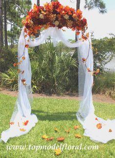 Bellissimo arco per un matrimonio autunnale