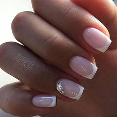 38 Ideas Manicure Francesa Simple Pretty Nails For 2019 Bride Nails, Wedding Nails, French Nails, Gorgeous Nails, Pretty Nails, Gel Nails, Acrylic Nails, Milky Nails, Lace Nails