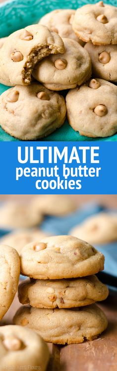 Ultimate Peanut Butter Cookies: Basic peanut butter cookies made with crunchy peanut butter and filled with peanut butter chips. Perfect for the peanut butter lovers in your life! via @frshaprilflours