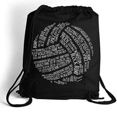 Luggage & Travel Gear, Gym Bags, Volleyball Words Cinch Sack Volleyball Bags by Multiple Colors - Black - Bags Volleyball Bags, Cinch Sack, Bags 2018, Drawstring Pants, Nylon Bag, Travel Luggage, Backpacks, Things To Sell, Colors
