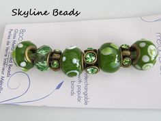 Mix and Mingle Bronze Metal Lined Beads  Olive by SkylineBeads, $4.95