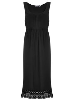Black Lace Trim Midi Dress | Dresses & Jumpsuits | MintVelvet #MintVelvet #SS15 #MVSS15