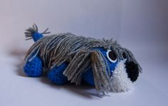 crocheted blue puppy find us on facebook: https://www.facebook.com/pages/Croseta-Anonima/183620815111054?ref=hl