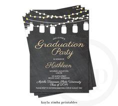 Graduation Invitation - Graduation Open House Party - High School Graduation - College Graduation Invite