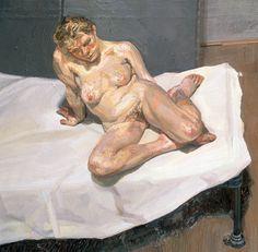 Girl Sitting Oil on canvas 54 x cm Lucien Freud Lucian Freud, Sigmund Freud, Statues, Modern Art, Contemporary Art, Antoine Bourdelle, Chaim Soutine, Berlin, Saatchi Gallery