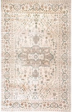 BeaumontVI18 Vintage Embellished Rug Dining Room