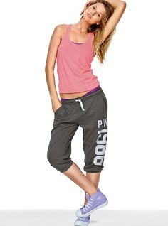 The Campus Crop - Victoria's Secret Pink® this will be my look all the time next year at school. except the high tops. they'll be toms.