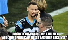Cam Newton's newest Wide Receiver