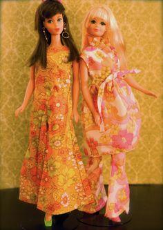 Vintage Barbies - Mod Era Twist n' Turn Barbie and PJ