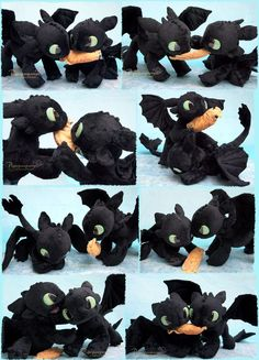 Battle of the Toothless - handmade plushies by Piquipauparro on DeviantArt