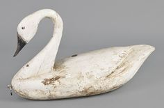 Carved and painted swan decoy, 20th century. Make me one, Pete!
