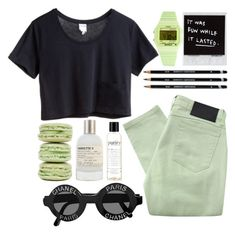 """""""☀ Summer's in Paris ☀"""" by thetigernyc ❤ liked on Polyvore featuring Religion Clothing, Monki, Timex, Le Labo, philosophy, Ladurée, women's clothing, women, female and woman"""