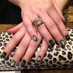 Zombie Valentines Day Nails   Nail Art