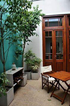 Ideas for patio internos casa chorizo Outdoor Rooms, Outdoor Living, Outdoor Furniture Sets, Outdoor Decor, Patio Chico, Patio Edging, Recycled House, Modern Courtyard, Porch And Balcony