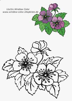 Blumen-Vorlagen 1 Coloring Sheets, Coloring Pages, Tole Painting Patterns, Watercolor Drawing, Glass Flowers, Op Art, Colorful Flowers, Embroidery Patterns, Needlework