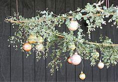 My Australian inspired Christmas table with eucalyptus canopy
