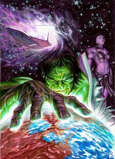 Planet Hulk DVD Cover Color Concept II - Alex Ross Comic Art