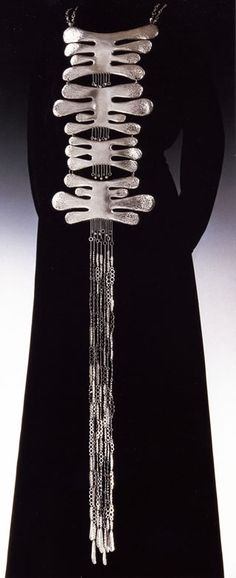 Body ornament by Arline Fisch (sterling silver, 1971).