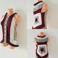 Special Unique vest waistcoat wide Stylish warm  38-40-42 size womens clothing, Knitted Sleeveless Cardigan