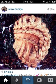 Gorgeous multi-braided updo