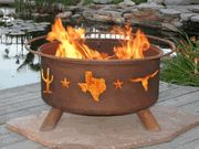 Lone star texas fire pit