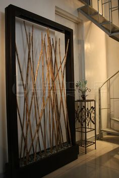 Bamboo planter, room divider, bare wall accent : Leoque Collection ...