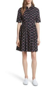 Free shipping and returns on kate spade hot rod poplin fit & flare dress at Nordstrom.com. Show off your love for the classics in this vintage-inspired frock featuring a fresh spread collar, cuffed, elbow-length sleeves and a flared skirt.