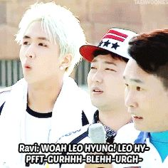 VIXX, Ravi trying to cheer for Leo