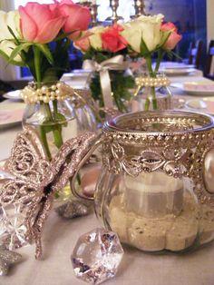 Ankerwerfer, Hochzeit, Deko, Rosen, rosa, silber, Winter