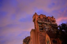 Sunset at the Hollywood Tower Hotel at Disney's Hollywood Studios