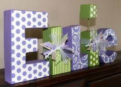 Custom Wooden Name Blocks Baby Girl Nursery Decor on Etsy, $52.00