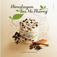 """Adding a destination to the name of any food instantly makes it more exotic and healthy. For instance, Belgian Waffles, New York Cheesecake, Phuket Donut. Extra points because it is also a """"tea,"""" thereby, making this McFlurry 100% healthy. Right?"""