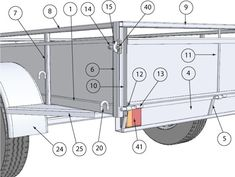 Cutting List & Components Trailer Plans, Car Trailer, Trailers, My Mechanic, Jeep Xj, Storage Chest, Delivery, Design, Stone