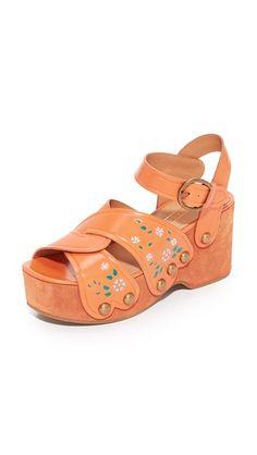 Marc Jacobs Wildflower Wedge Sandals