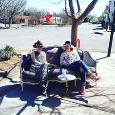 It's a beautiful day in the neighborhood! Come see us in Paseo  #betsykingshoes #betsyandmarla #marlacookhats #paseo #shopsmall #keepitlocalokc