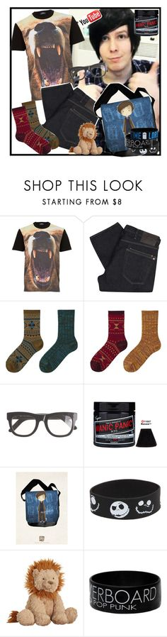 """Dress Like Phil!"" by designergirl2000 ❤ liked on Polyvore featuring Topman, Paul Smith, Uniqlo, RetroSuperFuture, Manic Panic NYC, Disney, Jellycat, YouTubers, amazingphil and phillester"