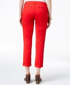 Tommy Hilfiger Cuffed Chino Straight-Leg Pants, Only at Macy's - Blue 14