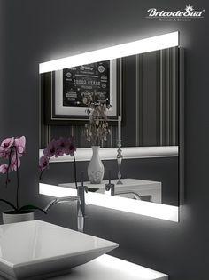 Badspiegel mit Beleuchtung Vella M444L4: Design Spiegel für ...