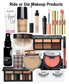 Ride or Die Makeup Products by lotus-lotusflower on Polyvore featuring polyvore, beauty, Ardell, Kat Von D, Laura Mercier, Becca, Giorgio Armani, Yves Saint Laurent, NYX, NARS Cosmetics, Benefit, Burberry, TheBalm and Skindinavia
