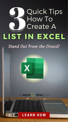 In this FREE Excel tutorial you will find the Top 3 ways how to create a Custom List in Excel! You can reuse this anytime in your spreadsheet to increase your Excel efficiency! This Excel tutorial is from #MyExcelOnline | Microsoft Excel Formula Tips   Tutorials | #Excel #MSExcel #MicrosoftExcel #ExcelFormulas #ExcelforBeginners #ExcelTips