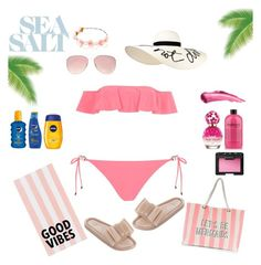 """Summer Oufit // Pink Bikini"" by peltomakipauliina on Polyvore featuring River Island, Topshop, Eugenia Kim, Boohoo, PBteen, Melissa, Marc Jacobs, NARS Cosmetics and Nivea"